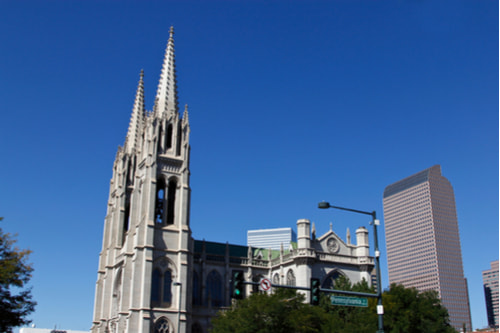 Cathedral Basilica of the Immaculate Conception from the outside