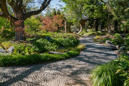 walkway in the denver botanic gardens